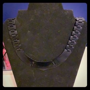 J. Crew Metal Chain Collar Matte Black Necklace